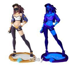 LOL League of Legends K/DA Akali Unlock Statue Limited Edition UV Light Mode 009