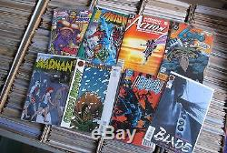 Large Comic Book Lot & Toy Collection over 1500 Books Toys Marvel DC & More