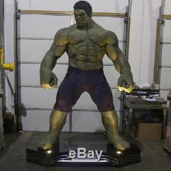 Lift Size Marvel Avengers Hulk Statue 10 Feet Tall Light Up Base Rare 1 of 3