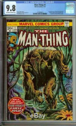 MAN-THING #1 CGC 9.8 OWithWH PAGES