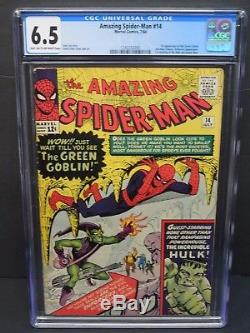 MARVEL AMAZING SPIDER-MAN #14 1964 CGC 6.5 1st GREEN GOBLIN APPEARANCE LEE/DITKO