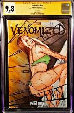 MARVEL Comics VENOMIZED #1 CGC SS 9.8 ROGUE Original Sketch SPIDER-MAN X-MEN