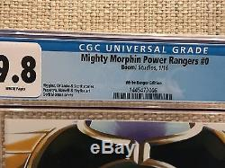 MIGHTY MORPHIN POWER RANGERS #0 #5 #9 VARIANT'S ALL CGC 9.8 ComicsPro SDCC White