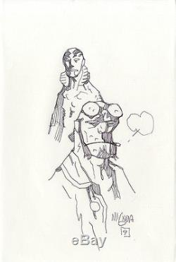 MIKE MIGNOLA Hellboy and Abe Sapien ORIGINAL ILLUSTRATION ART