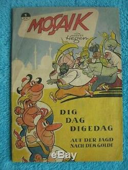 MOSAIK Digedags Nr. 1 KÖNIGSHEFT Die Jagd nach dem Golde Hannes Hegen 1955 DDR