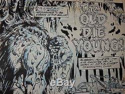 Marvel Comics Stan Lee Man-Thing Original 1974 Comic Cover Art Signed Mike Ploog