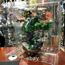 Marvel Hulk vs. Wolverine 14'' Maquette Statue Figure Collectible Toys In Stock