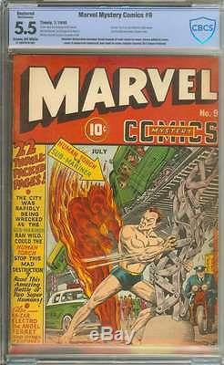 Marvel Mystery Comics #9 Cbcs 5.5 Cr/ow Pages