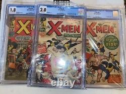 Marvel Silver Age X-Men #1 #2 #3 All 3 Graded CGC Stan Lee Jack Kirby KEY