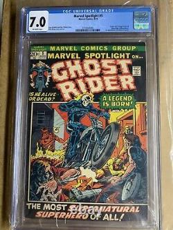 Marvel Spotlight #5 Cgc 7.0 Ow-wh Pg 1st Ghost Rider Johnny Blaze Grail Hot Book