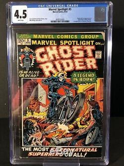 Marvel Spotlight #5 Comic Book CGC 4.5 Origin & 1st Appearance Ghost Rider (RC)