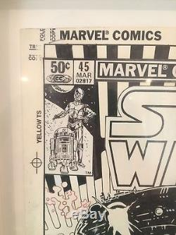 Marvel Star Wars #45 original cover art