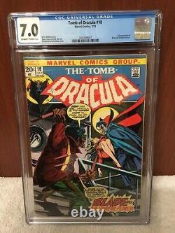 Marvel Tomb Of Dracula 10 CGC 7.0 1st Appearance Of Blade The Vampire Hunter KEY