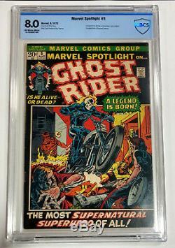 Marvel spotlight 5 Graded 8.0 1st Ghost Rider VF very Fine Copy CBCS