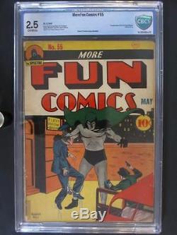 More Fun Comics #55 CBCS 2.5 GD+ DC 1940 (Spectre) 1st App of Dr. Fate SCARCE