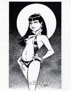 NCS ORIGINAL INK DRAWING of Vampirella by BRUCE TIMM
