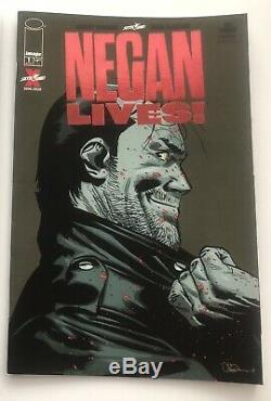NEGAN LIVES #1 Red foil employee variant NM THE RAREST WALKING DEAD BOOK