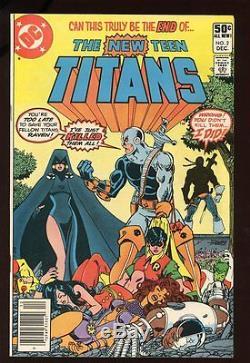 NEW TEEN TITANS #2 VERY FINE 1st DEATHSTROKE 1980 DC COMICS
