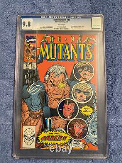 New Mutants 87 CGC 9.8 WHITE PAGES 1ST APP OF CABLE! DEADPOOL MOVIE HOT BOOK