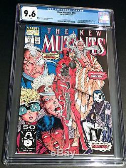 New Mutants 98 First Deadpool CGC 9.6 NM+ New CGC Case