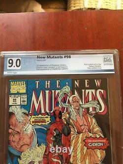 New Mutants 98 Pgx 9.0 First Deadpool Beautiful Book Key Marvel