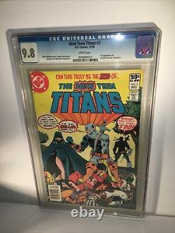 New Teen Titans #2 CGC 9.8 White Pages 1980 1st app. Deathstroke the Terminator