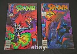 Newsstand Edition Spawn #1 and #2 First Printing Image Comics Mcfarlane 1992 NM