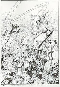Original Comic Book Art Arthur Adams, Steve Rogers Captain America Cover Marvel