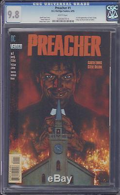 Preacher #1 CGC 9.8 Garth Ennis AMC Show Seth Rogen Vertigo Walking Dead lot