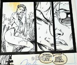 Psylocke Original Jim Lee Comic Art Published Inked X-men #8 Page 10 Iconic Work