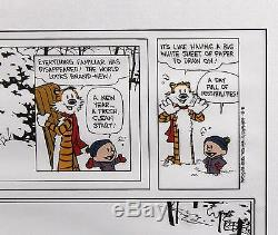RARE Authentic Signed Autographed Bill Watterson Calvin & Hobbes Comic Strip