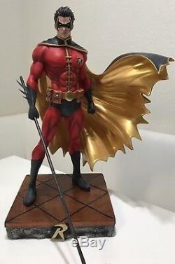 Robin Bat Man Statue Sculpt Art Nt XM Sideshow Prime 1 DC Comics Avi Ay 1 of 40