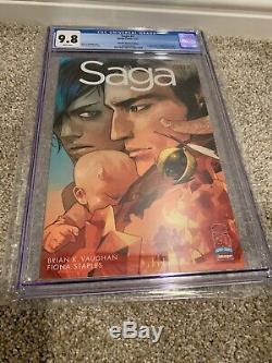 SAGA #1 RRP CGC 9.8 Retailer Incentive Edition Image Comics Brian K Vaughan 1