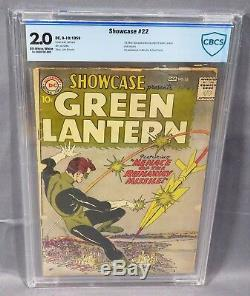 SHOWCASE #22 (Green Lantern, Hal Jordan 1st app) CBCS 2.0 GD DC Comics 1959 cgc