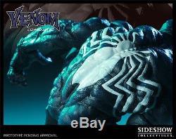SIDESHOW Exclusive VENOM COMIQUETTE Statue Spider-man PREMIUM FORMAT Figure Bust