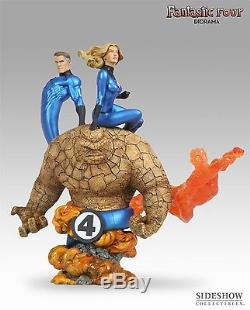 SIDESHOW SAMPLE FANTASTIC FOUR 4 DIORAMA STATUE Mr HUMAN TORCH THING Dr DOOM Bus