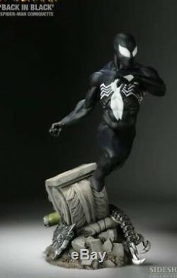 SIDESHOW SPIDER-MAN BACK IN BLACK COMIQUETTE Statue Symbiote Venom XM Studios