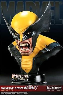 SIDESHOW WOLVERINE Life SIZE BUST Berserker Rage STATUE Movie X-MEN FIGURE Hulk