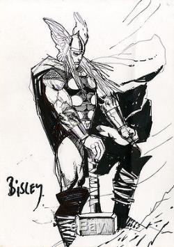 SIMON BISLEY Thor ORIGINAL COMIC ART Sketch