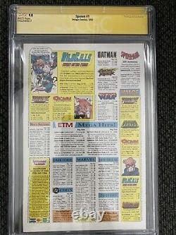 SPAWN 1 CGC 9.8 White Pages SS Signed by TODD MCFARLANE 1st Appearance of SPAWN