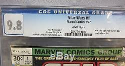 STAR WARS #1 (A New Hope movie adaptation) CGC 9.8 NM/MT Marvel Comics 1977