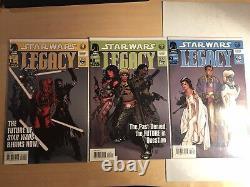 STAR WARS LEGACY #1 2 3 ADAM HUGHES Dark Horse Comics 1st Prints Comic Book Lot