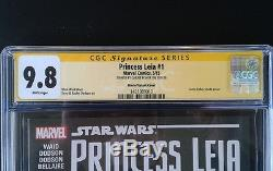 Star Wars Princess Leia #1 Marvel Signed Autograph By Carrie Fisher Cgc 9.8