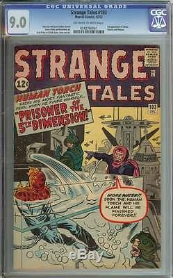 STRANGE TALES #103 CGC 9.0 OWithWH PAGES