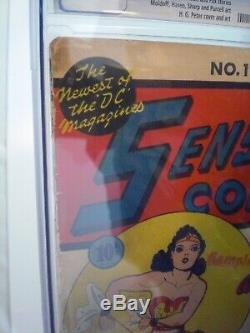 Sensation Comics #1 CGC 1.8, 1942, Universal Blue Label, 1st Wonder Woman Cover