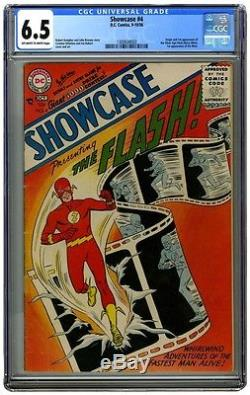 Showcase #4 CGC 6.5 OWW (1956) 1st Barry Allen Flash 1st SA Flash
