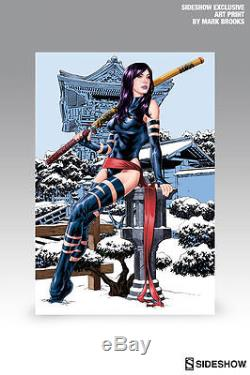 Sideshow Collectibles Exclusive Psylocke Comicquette Artist Proof with Print