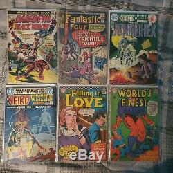 Silver Age Comic Book Lot 40 Books Marvel DC Spiderman Avengers Major Key Issues