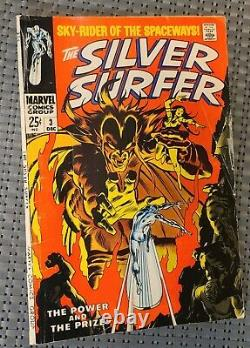 Silver Surfer #3 (1968)1st app. Mephisto! Complete/Good Condition. Auction! LOOK