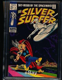 Silver Surfer # 4 Surfer vs. Thor low distribution CGC 9.6 WHITE Pgs